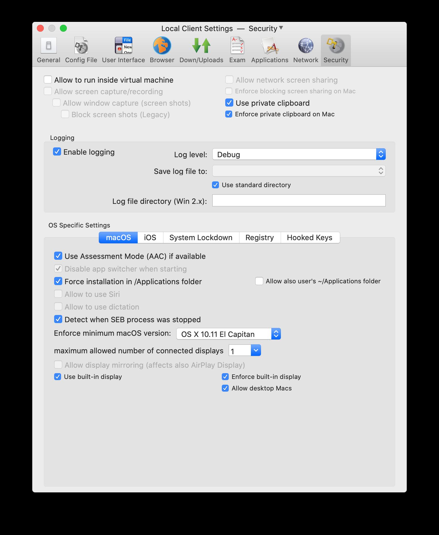 Safe Exam Browser - macOS User Manual